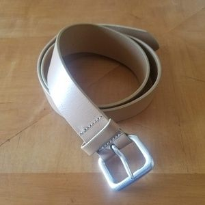 Express Tan Belt with Silver Buckle